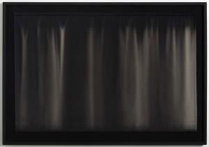 Mørklægningsgardin #2 Camilla Rasborg, 2013 Bomuldstekstil bleget af sol, indrammet 114x165 cm